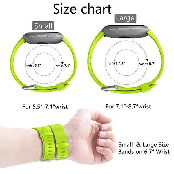 123Watches Fitbit versa sport band - groen