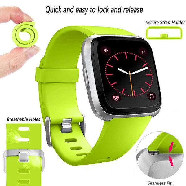123Watches Fitbit versa sport band - green