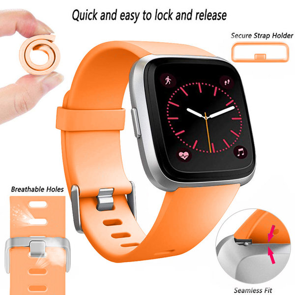123Watches Fitbit versa sport band - oranje