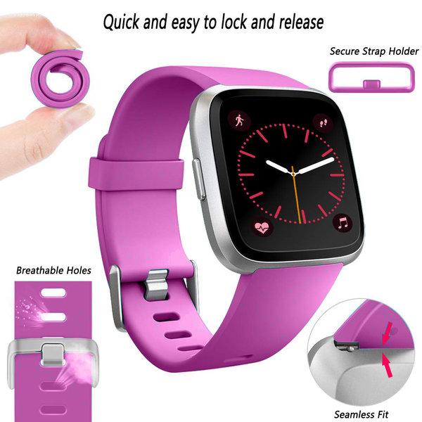 123Watches Fitbit versa sport sangle - violet