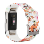 123Watches Fitbit charge 2 print sport band - bloemen mix