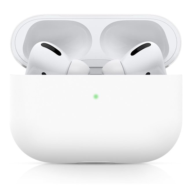 123Watches Apple AirPods PRO effen soft case - wit