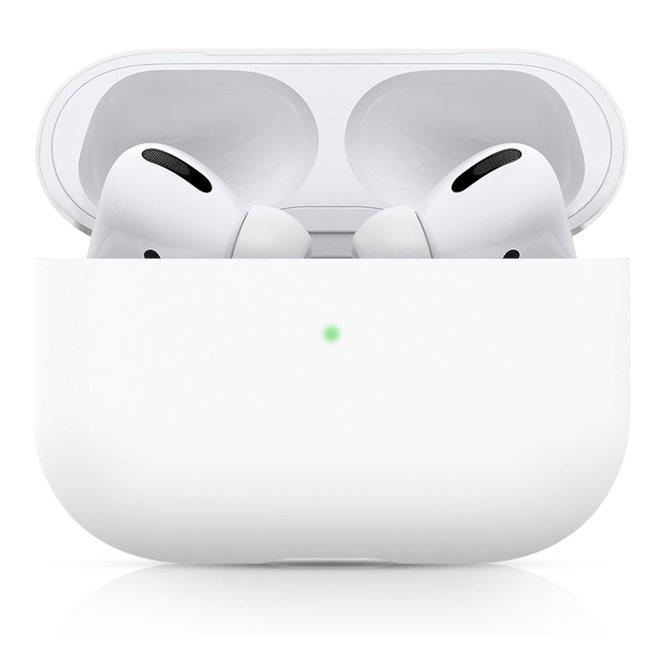 Merk 123watches Apple AirPods PRO effen soft case - wit