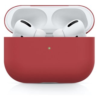 123Watches Apple AirPods PRO effen soft case - rood