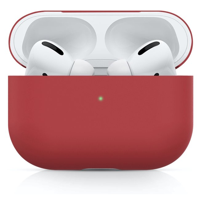 Apple AirPods PRO effen soft case - rood