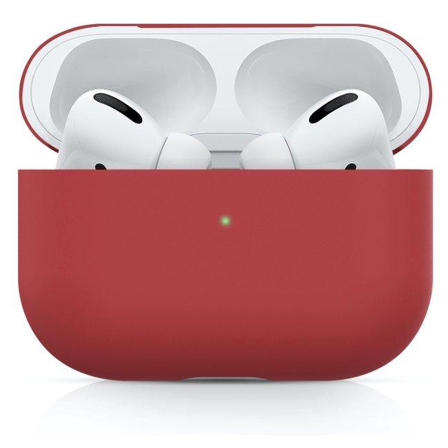 Merk 123watches Apple AirPods PRO effen soft case - rood