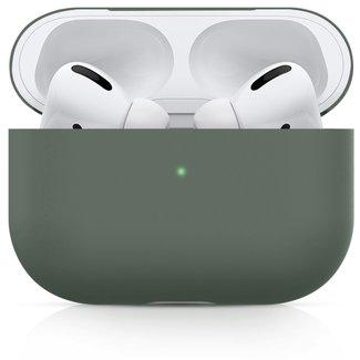 123Watches Apple AirPods PRO effen soft case - grijsachtig groen