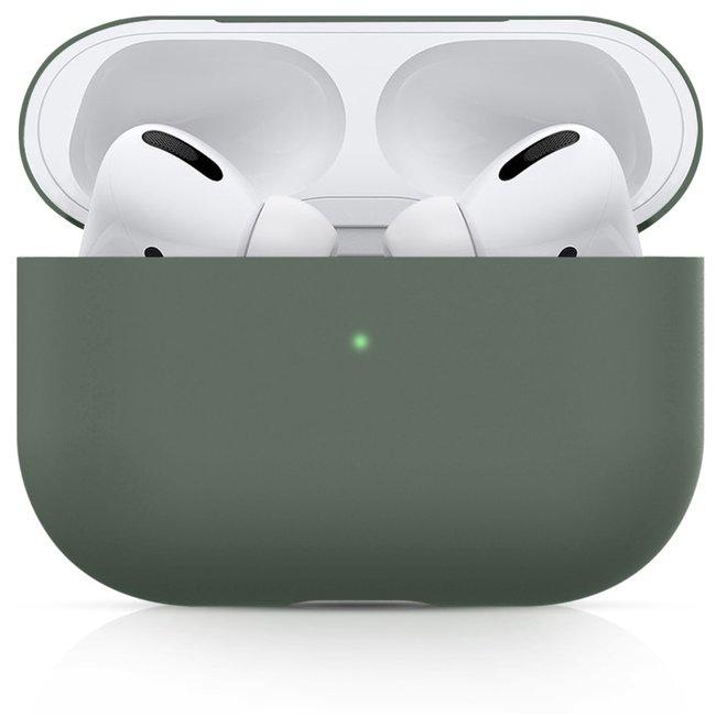 Merk 123watches Apple AirPods PRO effen soft case - grijsachtig groen