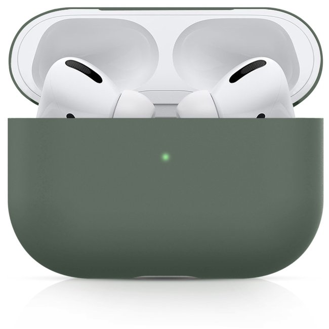 Merk 123watches Apple AirPods PRO solid soft case - greyish green