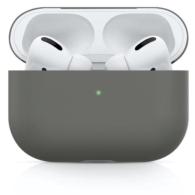 Merk 123watches Apple AirPods PRO effen soft case - grijs