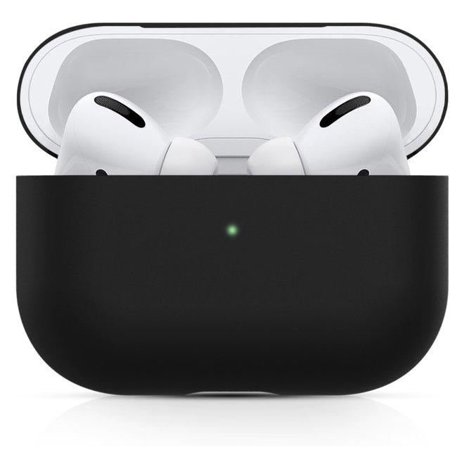 Merk 123watches Apple AirPods PRO effen soft case - zwart