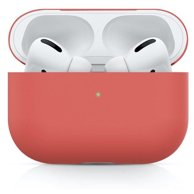 Apple AirPods PRO effen soft case - watermeloen rood