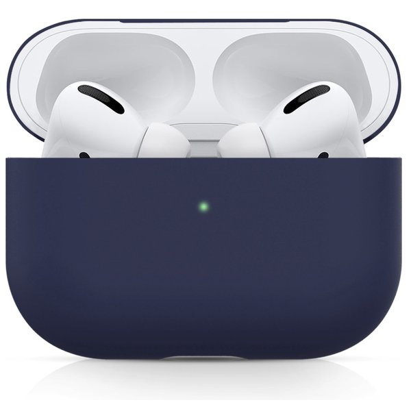 123Watches Apple AirPods PRO effen soft case - blauw grijs