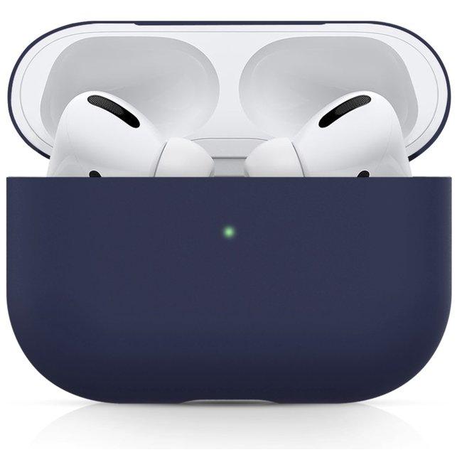 Merk 123watches Apple AirPods PRO effen soft case - blauw grijs