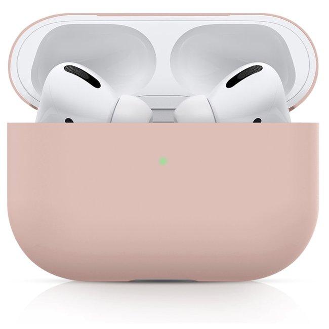 Apple AirPods PRO effen soft case - roze