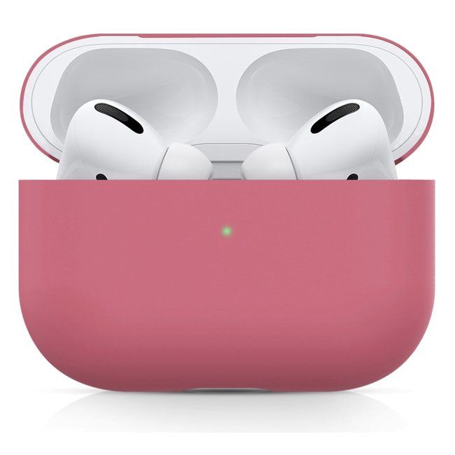 Apple AirPods PRO effen soft case - rose rood
