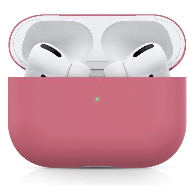 Merk 123watches Apple AirPods PRO effen soft case - rose rood