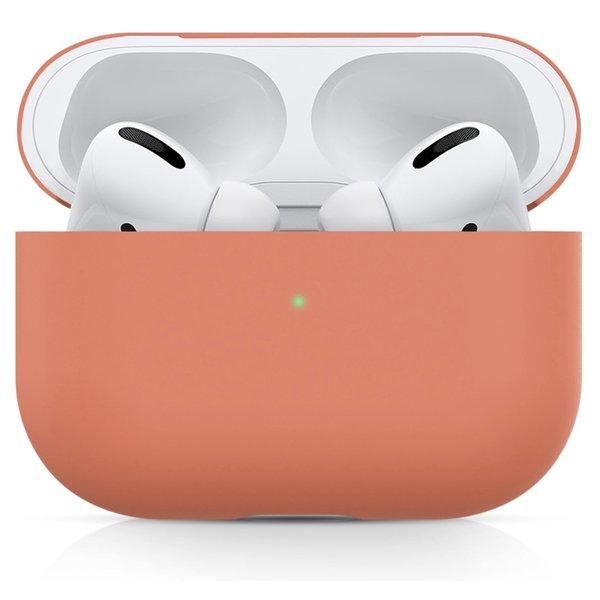 123Watches Apple AirPods PRO effen soft case - nectarine