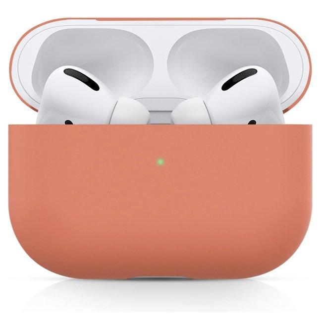 Merk 123watches Apple AirPods PRO effen soft case - nectarine