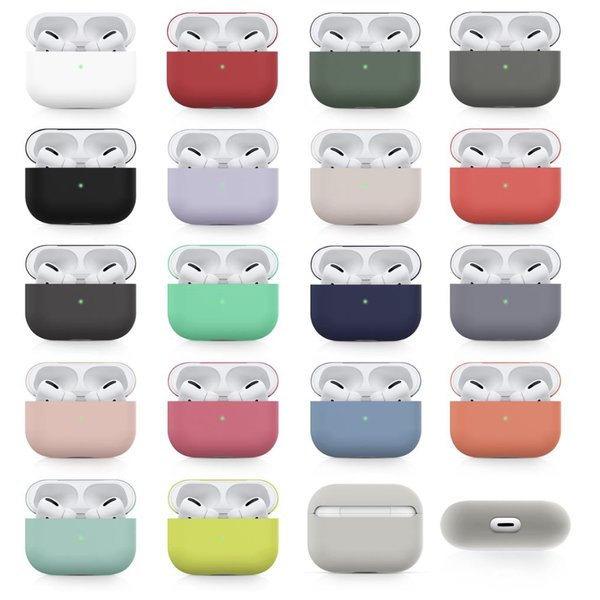 123Watches Apple AirPods PRO effen soft case - limoengeel