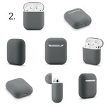 123Watches Apple AirPods 1 & 2 solid soft case - advanced ash