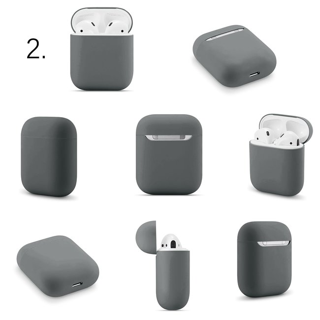 Merk 123watches Apple AirPods 1 & 2 solid soft case - advanced ash