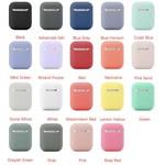 123Watches Apple AirPods 1 & 2 effen soft case - blauw grijs