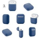 123Watches Étui rigide solide Apple AirPods 1 & 2 - bleu gris