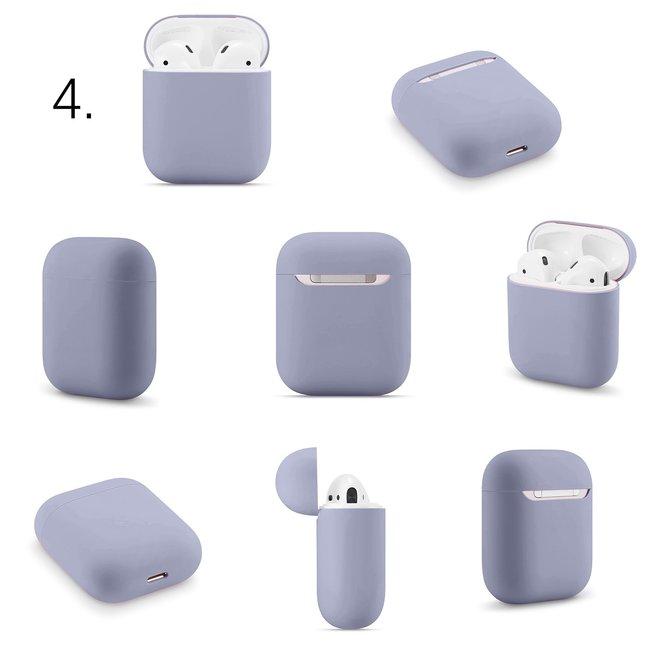 Merk 123watches Apple AirPods 1 & 2 effen soft case - blauwe horizon