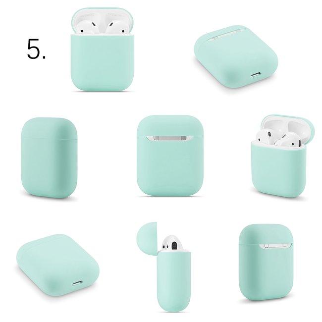 Apple AirPods 1 & 2 effen soft case - coast blauw