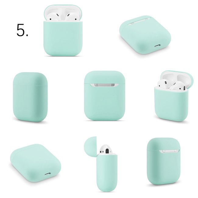 Apple AirPods 1 & 2 solid soft case - coast blue
