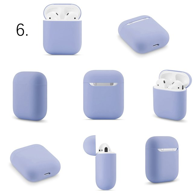 Merk 123watches Apple AirPods 1 & 2 solid soft case - mint green
