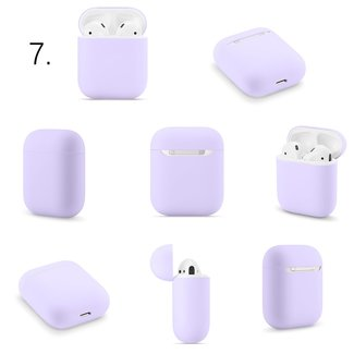 123Watches Apple AirPods 1 & 2 solid soft case - purple