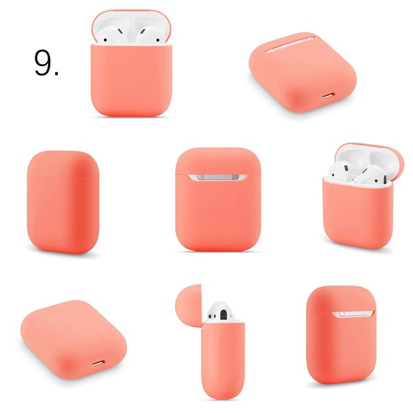 123Watches Étui rigide solide Apple AirPods 1 & 2 - nectarine