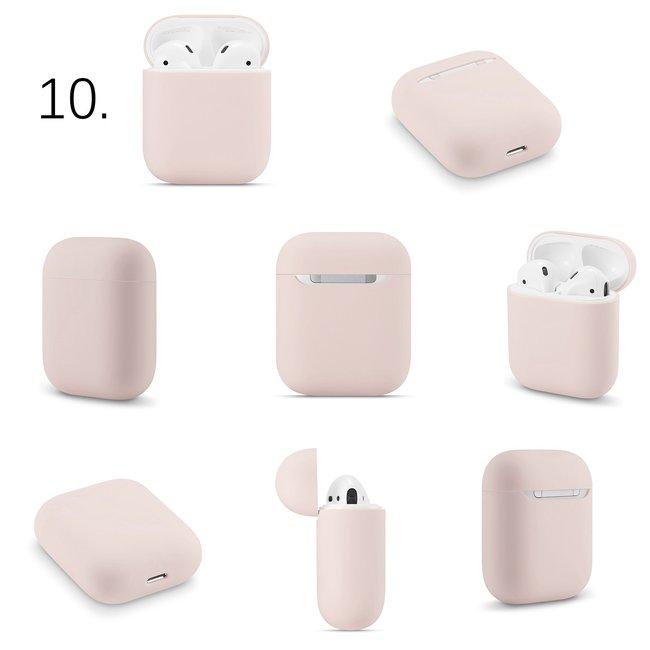 Merk 123watches Apple AirPods 1 & 2 effen soft case - pink sand