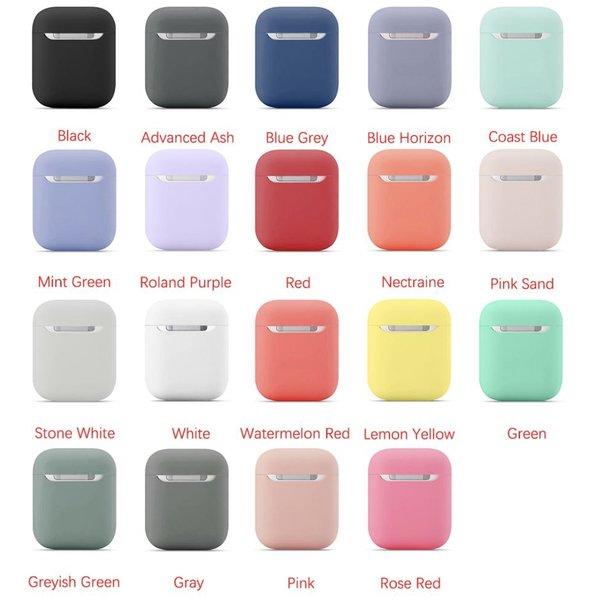 123Watches Apple AirPods 1 & 2 effen soft case - steenwit