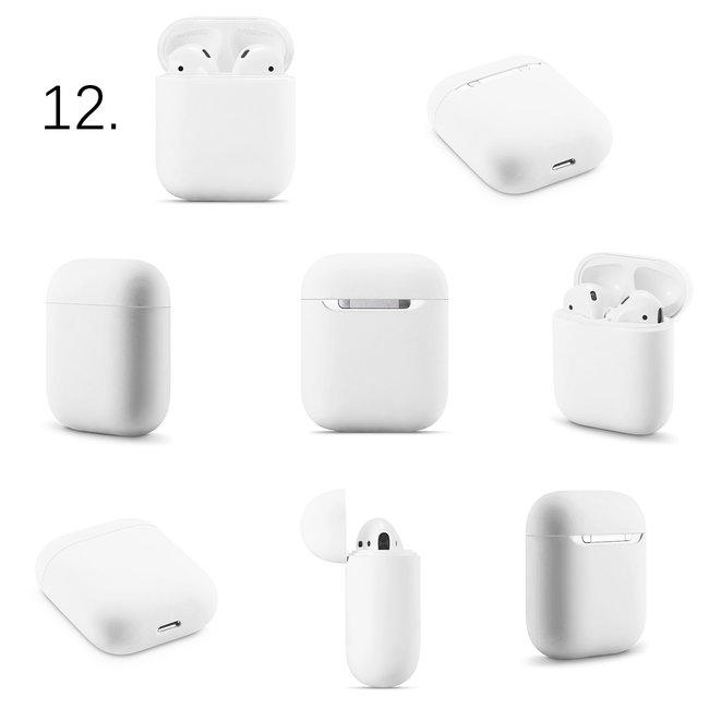 Merk 123watches Apple AirPods 1 & 2 effen soft case - wit