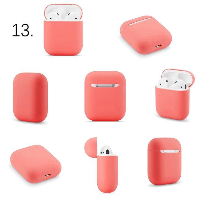 123Watches Apple AirPods 1 & 2 effen soft case - watermeloen rood
