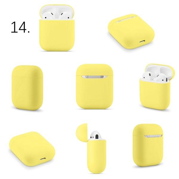 123Watches Apple AirPods 1 & 2 effen soft case - limoengeel