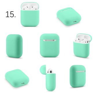 Merk 123watches Apple AirPods 1 & 2 effen soft case - groen