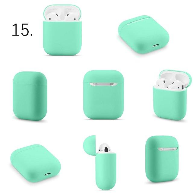 123Watches Apple AirPods 1 & 2 effen soft case - groen