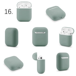 Merk 123watches Apple AirPods 1 & 2 solid soft case - greyish green