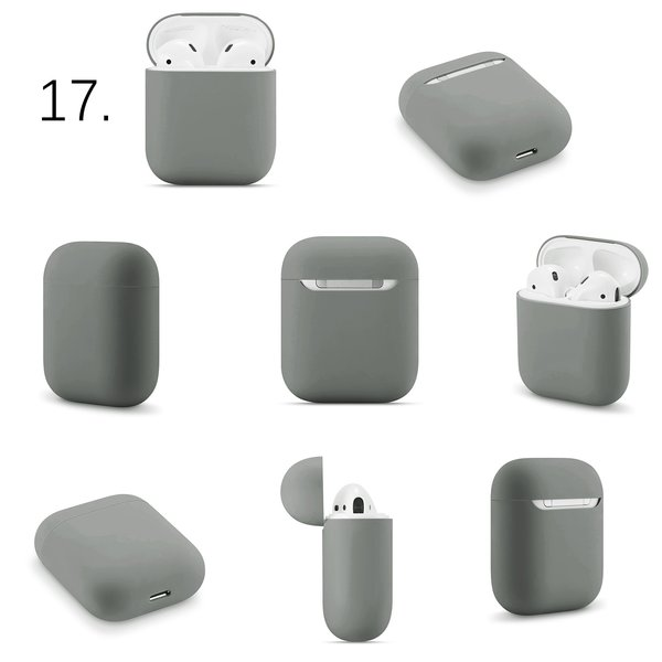 123Watches Apple AirPods 1 & 2 effen soft case - grijs