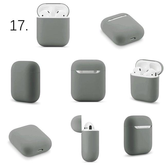 Apple AirPods 1 & 2 effen soft case - grijs