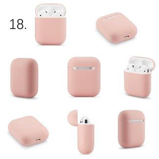 Merk 123watches Apple AirPods 1 & 2 effen soft case - roze