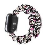 123Watches Fitbit Versa scrunchie band - bloemen paars