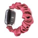 123Watches Fitbit Versa scrunchie band - roze