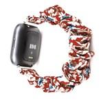 123Watches Fitbit Versa scrunchie band - bloemen rood