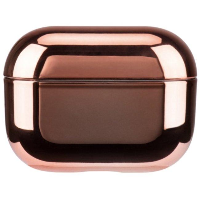 Apple AirPods PRO metallic hard case - rose goud
