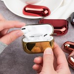 123Watches Apple AirPods PRO metallic hard case - zilver